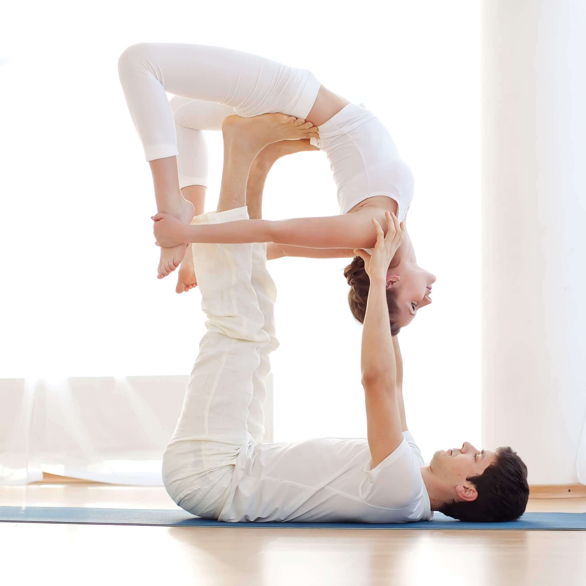 A Partner Yoga Routine Your Guy Will Actually Love Health Care